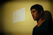 [English]  Ahmad-Zia, 14, listening to the instructions at his arrival at the hotel.<br /> <br /> [Francais]  Rappel des consignes du dispositif d'accueil d'urgence pour Ahmad-Zia, 14 ans, arrive a Paris la veille.