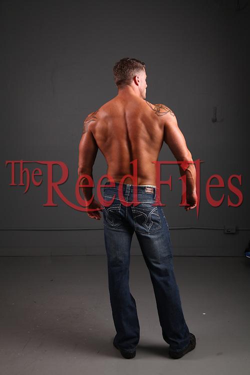 shirtless muscle man