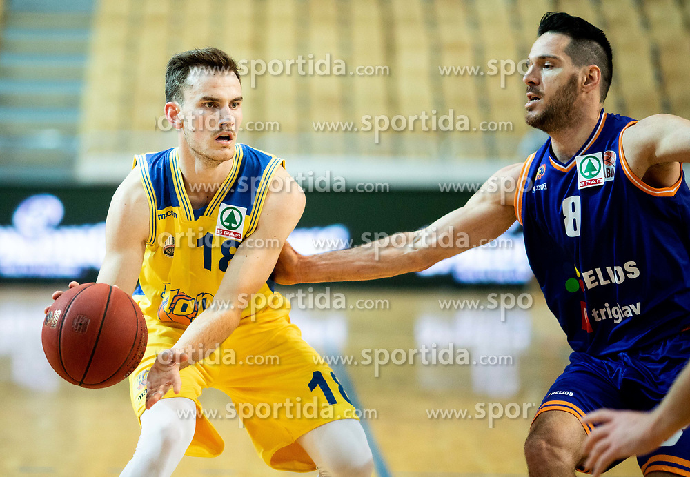 Sebastjan Borse of Hopsi Polzela during basketball match between KK Hopsi Polzela and KK Helios Suns in semifinal of Spar Cup 2018/19, on February 16, 2019 in Arena Bonifika, Koper / Capodistria, Slovenia. Photo by Vid Ponikvar / Sportida