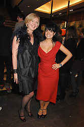 Left to right, Mulberry's chief operating officer LISA MONTAGUE and LILY ALLEN at a party hosted by Mulberry to celebrate the publication of The Meaning of Sunglasses by Hadley Freeman held at Mulberry 41-42 New Bond Street, London on 14th February 2008.<br />