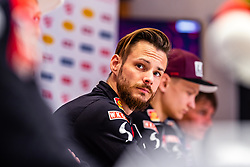 22.02.2019, Seefeld, AUT, FIS Weltmeisterschaften Ski Nordisch, Seefeld 2019, Skisprung, Herren, Pressekonferenz, im Bild Manuel Fettner (AUT) // Manuel Fettner of Austria during a press conference of ski jumping team of the FIS Nordic Ski World Championships 2019. Seefeld, Austria on 2019/02/22. EXPA Pictures © 2019, PhotoCredit: EXPA/ JFK