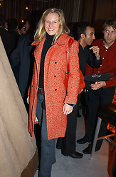 ALANNAH WESTON at a party to celebrate the opening of W'Sens - a new fine french restaurant at 12 Waterloo Place, London SW1 on 10th December 2004.<br />