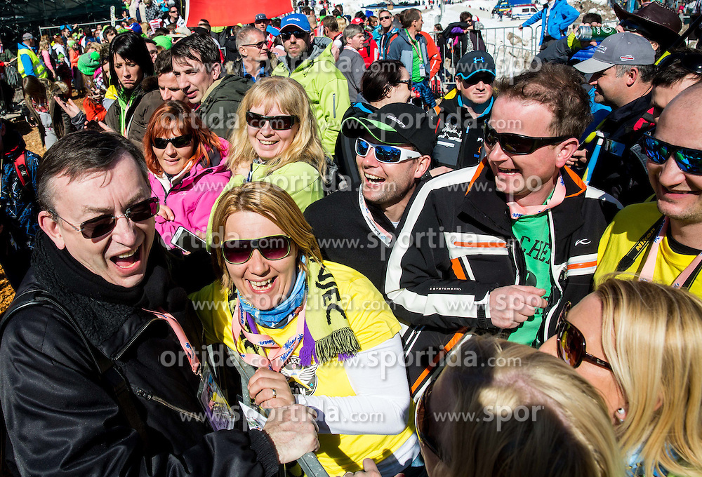 Andrej Stare with his fans during Ski Flying Hill Team Competition at Day 3 of FIS Ski Jumping World Cup Final 2016, on March 19, 2016 in Planica, Slovenia. Photo by Vid Ponikvar / Sportida