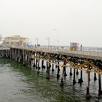 Fog blankets the Santa Monica Pier on Thursday, May 5, 2011.