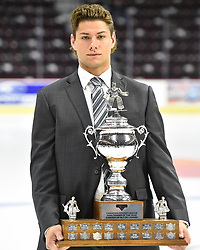 Michael McNiven of the Owen Sound Attack won the Vaughn Goaltender of the Year Award. Photo by Aaron Bell/CHL Images