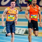 NLD/Apeldoorn/20180217 - NK Indoor Athletiek 2018, 60 meter heren, Joris van Gool en Patrick van Luijk
