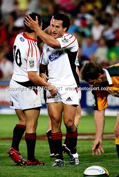 Super 14 rugby union match between the Reds and the Crusaders at Suncorp Stadium, Brisbane, Australia, on Saturday 18 February, 2006.Crusaders defeated Reds 47-21. Photo: PHOTOSPORT