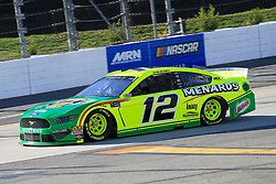 March 23, 2019 - Martinsville, VA, U.S. - MARTINSVILLE, VA - MARCH 23:  #12: Ryan Blaney, Team Penske, Ford Mustang Menards/Libman during practice for the STP 500 Monster Energy NASCAR Cup Series race on March 23, 2019 at the Martinsville Speedway in Martinsville, VA.  (Photo by David J. Griffin/Icon Sportswire) (Credit Image: © David J. Griffin/Icon SMI via ZUMA Press)
