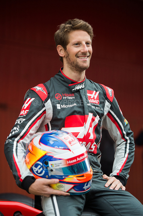 February 26, 2017: Circuit de Catalunya. Romain Grosjean (FRA), Haas F1 Team, VF17 launch