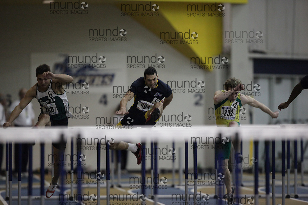 Windsor, Ontario ---12/03/09--- Derek Watkins of  the University of Windsor competes in the mens pentathlon hurdles at the CIS track and field championships in Windsor, Ontario, March 12, 2009..GEOFF ROBINS Mundo Sport Images