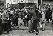 Paris.1955.Demonstrations in Paris' &quot;Latin Quarter&quot;.<br /> <br /> <br /> Paris.1955.Demonstrations dans le Quartier Latin  de Paris .