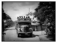 Truck along the road from Calcutta, West Bengal.
