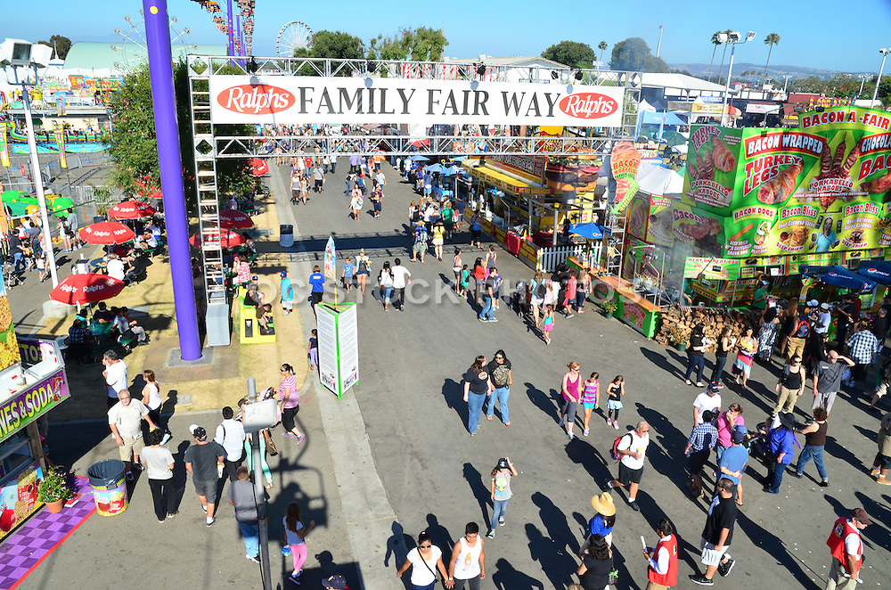 Family Fair Way At The Orange County Fair
