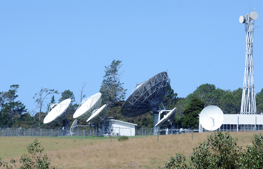 Warkworth Satelite Station, Communications, satelite dish, Warkworth, New Zealand, Thursday, February 07, 2013. Credit:SNPA / Ross Setford