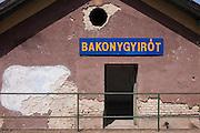Rural station in the village of Bakonygyirot, Gyor-Moson-Sopron, Hungary