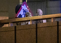 © Licensed to London News Pictures. 29/11/2019. London, UK. Forensics officers examine the scene on London Bridge after an incident. A number of people have been stabbed. Police have shot a suspect. Photo credit: Peter Macdiarmid/LNP