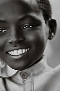 Portait of a young boy in Rugerero, a Genocide Survivors Village in Rwanda.