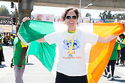 22/11/2015  repro fee. A group of  irish people travelled with Gorta-Self Help Africa travelled to the capital of Ethiopia Addis Ababa for the great Ethiopian run. In temperatures in the mid 30 degree heat and 40,000 people and a city at 7,500 feet above sea level, it's no mean feat. Tina Pittock from Electric Aid finish the race in a great time  .  Photo:Andrew Downes.