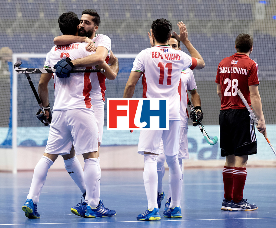 BERLIN - Indoor Hockey World Cup<br /> Men: Iran - Russia<br /> foto: GTAHERIRAD Navid celebrates.<br /> WORLDSPORTPICS COPYRIGHT FRANK UIJLENBROEK