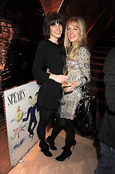Left to right, LADY LAURA CATHCART and EMMA WIGAN at a party to celebrate the 10th birthday issue of Spears Wealth Management Survey held at Molton House, South Molton Street, London on 25th November 2008.