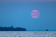A sunset affected by western wildfires.<br /> Michigan's Upper Peninsula
