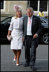 J.C. Bamford attending the wedding of Poppy Delevingne to James Cook at St.Paul's Church in Knightsbridge, London,  Friday, 16th May 2014. Picture by Andrew Parsons / i-Images