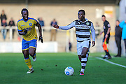 Forest Green Rovers Drissa Traoré(4) runs forward during the Vanarama National League match between Torquay United and Forest Green Rovers at Plainmoor, Torquay, England on 26 December 2016. Photo by Shane Healey.