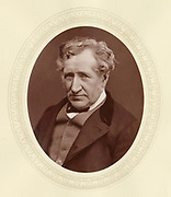 'James Hall Nasmyth (1808-1890) c1877, Scottish  engineer, inventor, and astronomer.  His most famous invention was the steam hammer.   Manufacturer of machine tools. Retired at 48 to concentrate on his hobbies, astronomy and photography.'