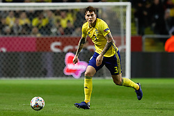 November 20, 2018 - Stockholm, Sweden - Victor Lindelof of Sweden in action during the UEFA Nations League B Group 2 match between Sweden and Russia on November 20, 2018 at Friends Arena in Stockholm, Sweden. (Credit Image: © Mike Kireev/NurPhoto via ZUMA Press)