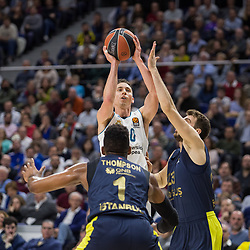 March 2, 2018 - Madrid, Madrid, Spain - Jaycee Carroll (white) during Fenerbahce Dogus Istanbul victory over Real Madrid (83 - 86) in Turkish Airlines Euroleague regular season game (round 24) celebrated at Wizink Center in Madrid (Spain). March 2nd 2018. (Credit Image: © Juan Carlos Garcia Mate/Pacific Press via ZUMA Wire)