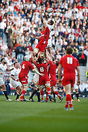 Courtney Lawes of England misses a linout  during the RBS 6 Nations match at Twickenham Stadium, Twickenham<br /> Picture by Andrew Tobin/Focus Images Ltd +44 7710 761829<br /> 09/03/2014