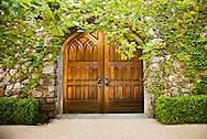 cellar doors at Terra Valentine winery. Saint Helena, California. Napa Valley