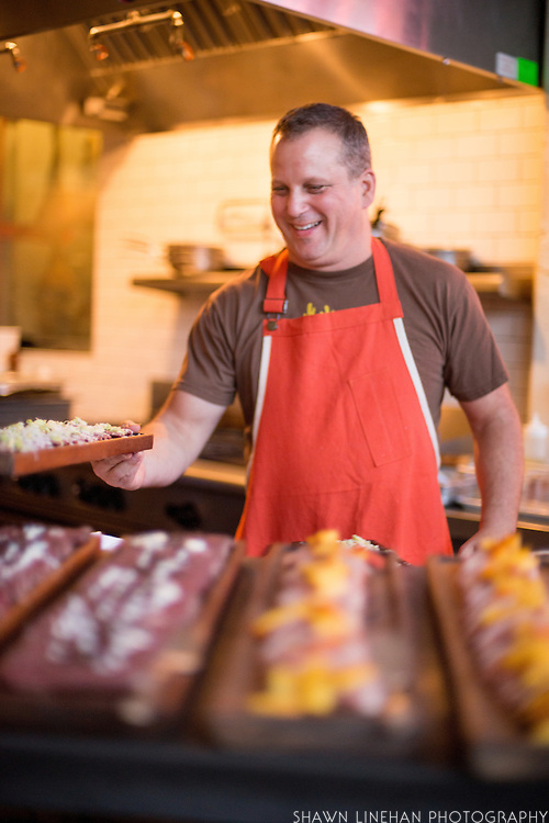 Paul Kahan as guest chef at Olympic Provisions