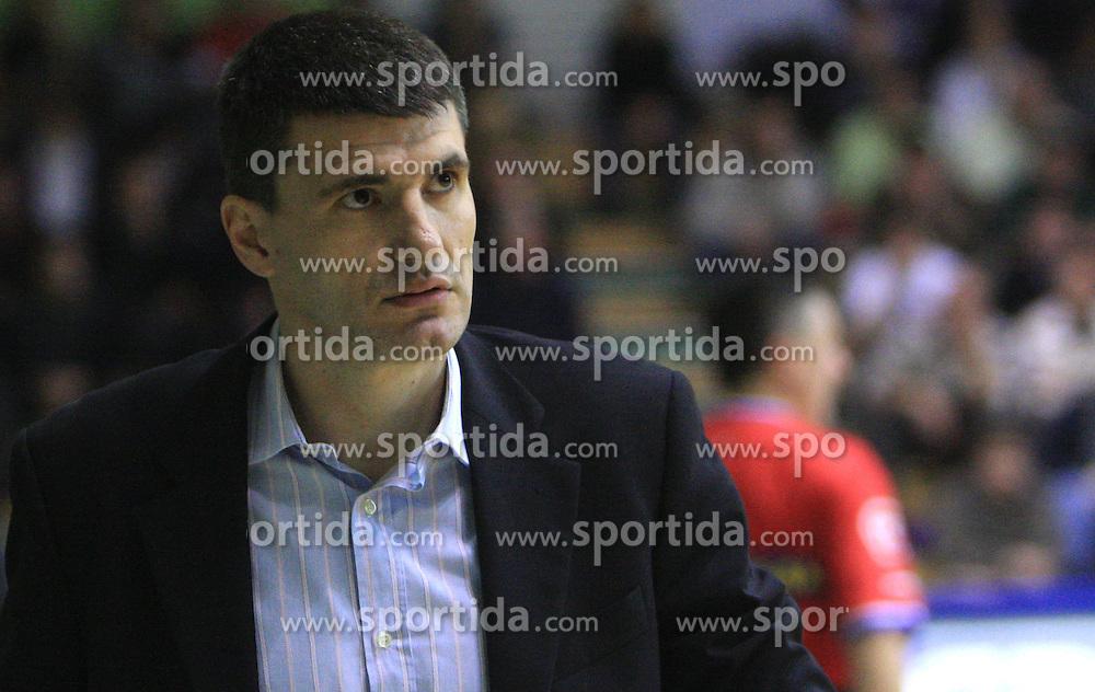 Coach of Cibona Velimir Perasovic at NLB League ABA basketball match between KK Krka and KK Cibona Zagreb, on November 29, 2008, in Novo mesto, Slovenia. Cibona won 74:58.  (Photo by Vid Ponikvar / Sportida)