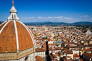 The Duomo dome from Giotto's Bell Tower (Campanile di Giotto), Florence, Tuscany, Italy