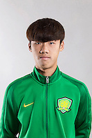 Portrait of Chinese soccer player Wu Guichao of Beijing Sinobo Guoan F.C. for the 2017 Chinese Football Association Super League, in Benahavis, Marbella, Spain, 18 February 2017.