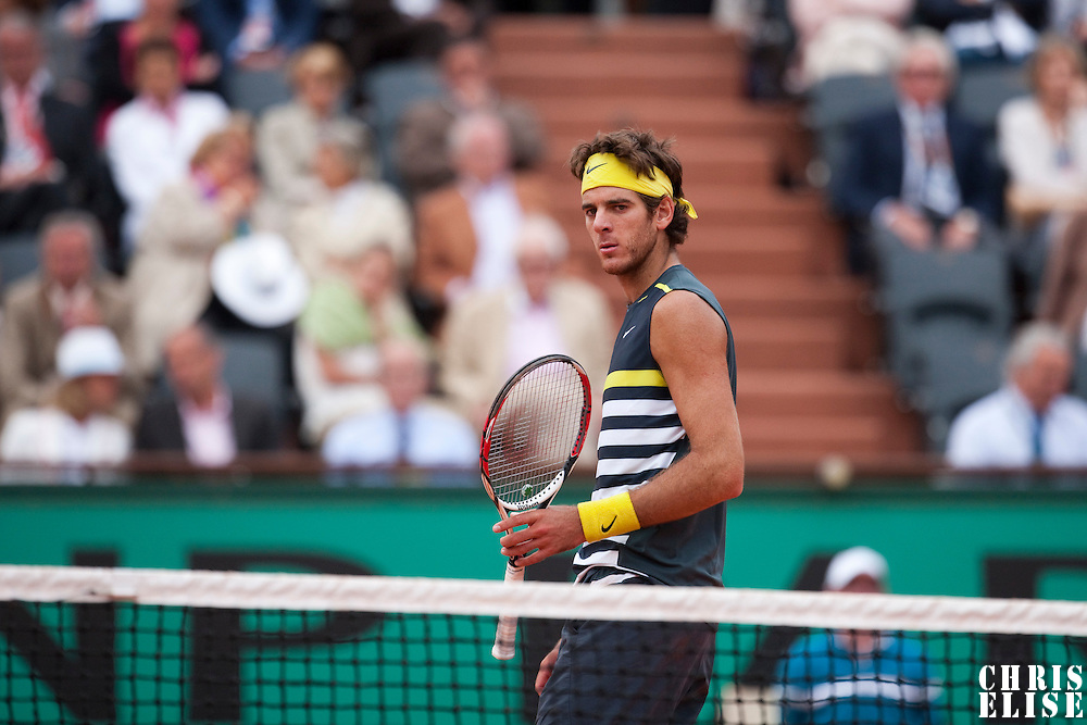 5 June 2009: Juan Martin Del Potro of Argentina is seen during the Men's Singles Semi Final match on day thirteen of the French Open at Roland Garros in Paris, France.