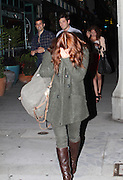 10.MAY.2011. LOS ANGELES<br /> <br /> DREW BARRYMORE LEAVING COBRAS &amp; MATADORS RETAURANT IN LOS ANGELES AFTER HAVING DINNER WITH HER BOYFRIEND WILL KOPELMAN. THE COUPLE DRANK WINE &amp; CUDDLED UP NEXT TO EACH OTHER FOR ALMOST TWO HOURS INSIDE. DREW WAS EXTREMELY CAMERA SHY AND COVERED UP HER FACE WITH HER RED HAIR WHILE LEAVING AND GETTING INTO THE CAR.<br /> <br /> BYLINE: EDBIMAGEARCHIVE.COM<br /> <br /> *THIS IMAGE IS STRICTLY FOR UK NEWSPAPERS AND MAGAZINES ONLY*<br /> *FOR WORLD WIDE SALES AND WEB USE PLEASE CONTACT EDBIMAGEARCHIVE - 0208 954 5968*