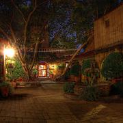 One of Tlaquepaque's beautiful courtyards by night, Sedona, AZ