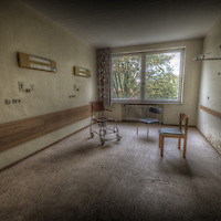 An old abandoned hospital room in the former East Germany