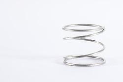 metal circular spring white background