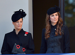 Sophie, Countess of Wessex, Catherine and Duchess of Cambridge during the annual Remembrance Sunday Service at the Cenotaph, Whitehall, London, England. Sunday, 10th November 2013. Picture by Nils Jorgensen / i-Images