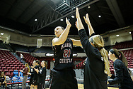 March 3, 2017: The University of Arkansas-Fort Smith Lions play against the Oklahoma Christian University Lady Eagles in the quarterfinals of the Heartland Conference women's basketball tournament at the Union Multipurpose Activity Center in Tulsa, Oklahoma