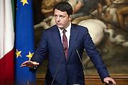 14/10/2014 Rome, italian premier and prime minister of Chinese Popular Republic press conference. Matteo Renzi - © PIERPAOLO SCAVUZZO