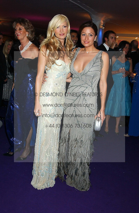 Left to right, model CAPRICE BOURRET and REBECCA LOOS at The British Red Cross London Ball - H2O The Element of Life, held at The Room by The River, 99 Upper Ground, London SE1 on 17th November 2005.<br /><br />NON EXCLUSIVE - WORLD RIGHTS