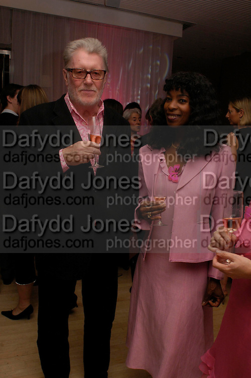 John Hoyland and Beverley Heath. The Laurent-Perrier Pink Party in aid of The Prince's Trust at the Sanderson Hotel on April 27, 2005. ONE TIME USE ONLY - DO NOT ARCHIVE  © Copyright Photograph by Dafydd Jones 66 Stockwell Park Rd. London SW9 0DA Tel 020 7733 0108 www.dafjones.com