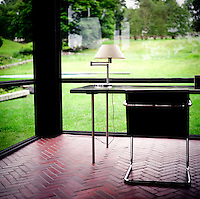 The Philip Johnson Glass House.