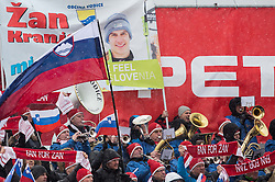Supporters of Zan Kranjec (SLO) during 2nd Run of 10th Men's Giant Slalom race of FIS Alpine Ski World Cup 55th Vitranc Cup 2016, on March 5, 2016 in Kranjska Gora, Slovenia. Photo by Vid Ponikvar / Sportida