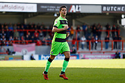 Forest Green Rovers midfielder Lloyd James (4)  during the EFL Sky Bet League 2 match between Morecambe and Forest Green Rovers at the Globe Arena, Morecambe, England on 9 March 2019.