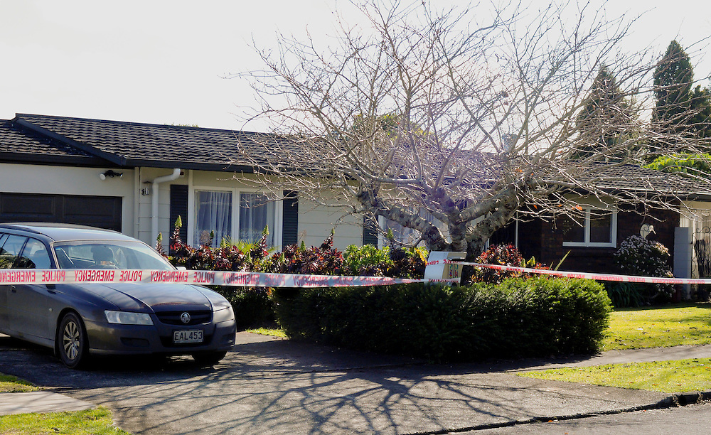 The house at Carlton Crescent, Kamo, Whangarei, New Zealand, which is the subject of Police forensic work following the death of one year old Atreyu Taylor-Matene who died from head injuries, Monday July 15, 2013. Credit:SNPA / Malcolm Pullman